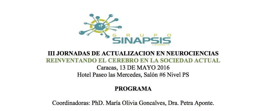 PROGRAMA DEFINITIVO III JORNADAS ACTUALIZACIÓN EN NEUROCIENCIAS