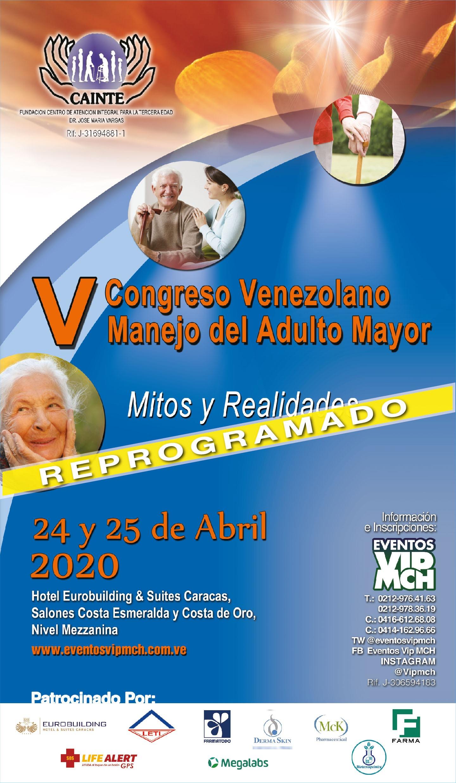 V Congreso Venezolano Manejo del Adulto Mayor