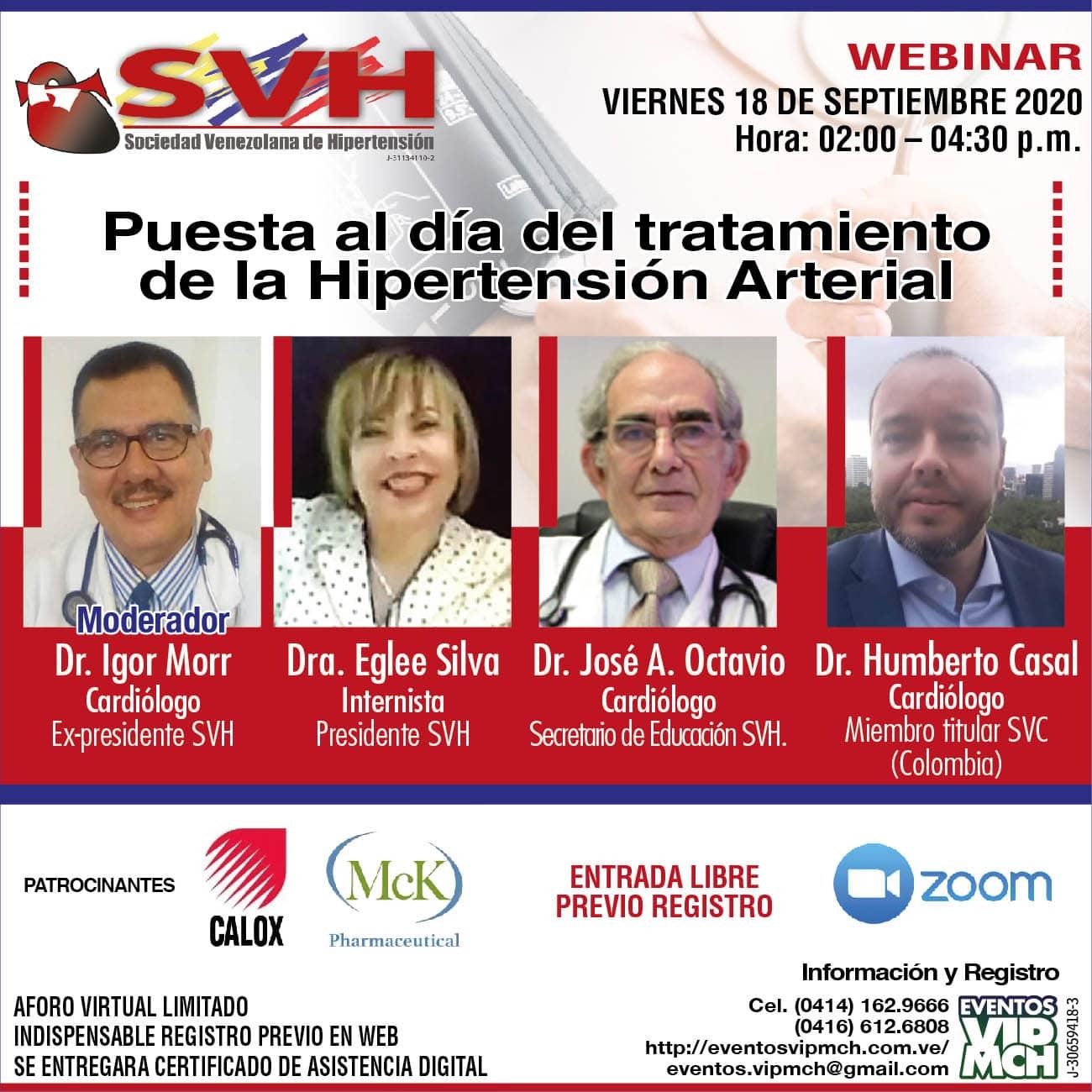 WEBINAR: Puesta al día del tratamiento de la Hipertensión Arterial