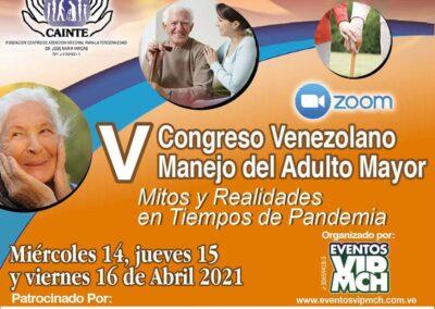 """Video Congreso: V Congreso Venezolano Manejo del Adulto Mayor """"Mitos y Realidades en Tiempos de Pandemia"""""""