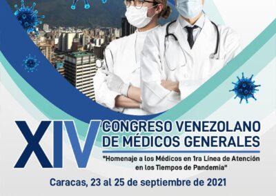 """XIV CONGRESO VENEZOLANO DE MÉDICOS GENERALES """"Homenaje a los Médicos en la 1ra Línea de Atención en los Tiempos de Pandemia"""""""